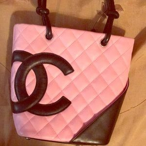 Chanel Carbon quilted pink purse